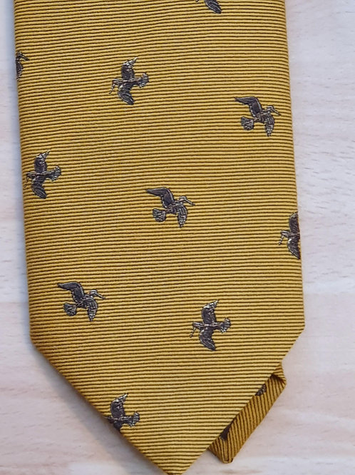 FORT AND STONE WOODCOCK IN FLIGHT ON MUSTARD TIE