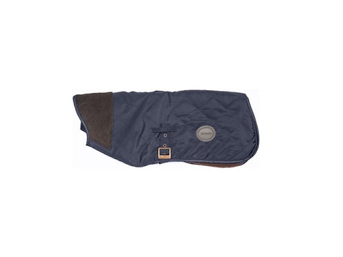 BARBOUR NAVY QUILTED BOY DOG COAT