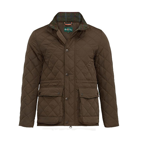 ALAN PAINE OLIVE SURREY QUILTED JACKET