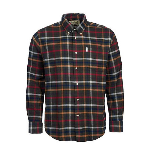 BARBOUR OLIVE HADLO SHIRT