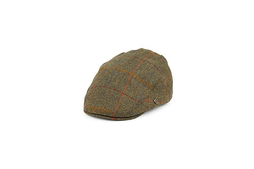 FAILSWORTH OLIVE MULTI (567) GAMEKEEPER FLAT CAP