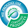 We proudly use green certified products!