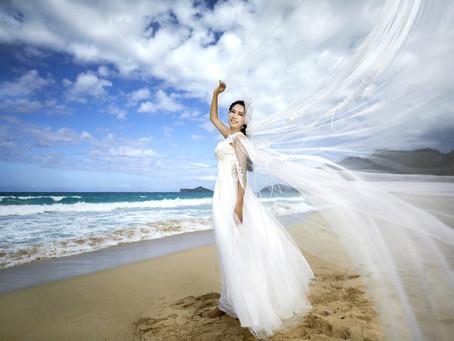 男人觉得拍婚纱照累人,所以我就自己拍了
