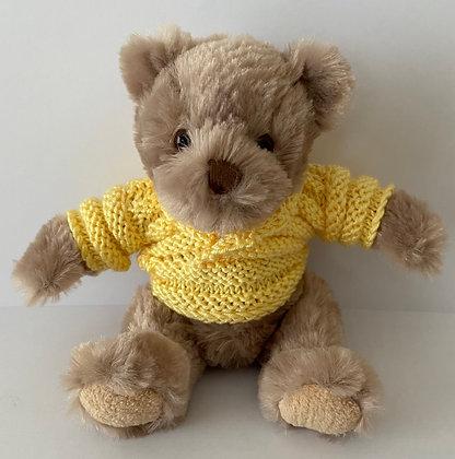 7.5 Inch Teddy Bear wearing Shawl Neck Jumper
