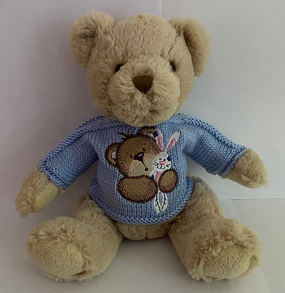 12 Inch Teddy holding Bunny Jumper Only