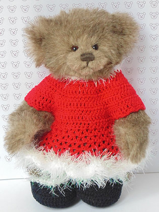 15 Inch Crochet Santa Dress and Pumps Only
