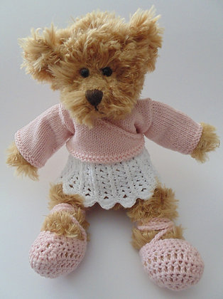 12 Inch Teddy Bear wearing Ballet Outfit
