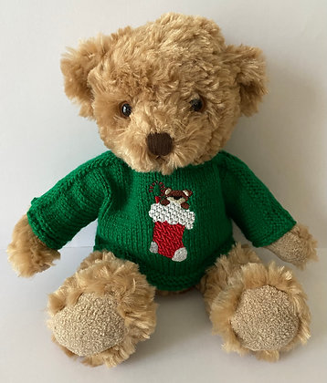 12 Inch 'Teddy in Stocking' Jumper Only