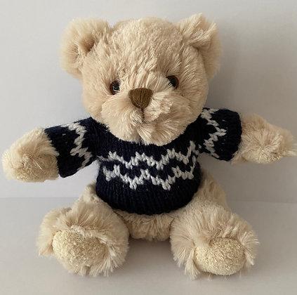 7.5 Inch Teddy Bear wearing Norwegian Jumper