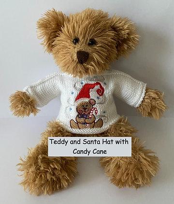 12 Inch Teddy Bear wearing a Christmas Jumper