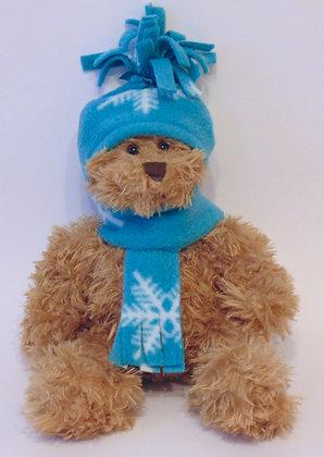 12 Inch Teddy Bear wearing Hat & Scarf