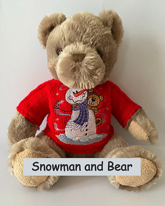 15 Inch Teddy Bear wearing a Christmas Jumper
