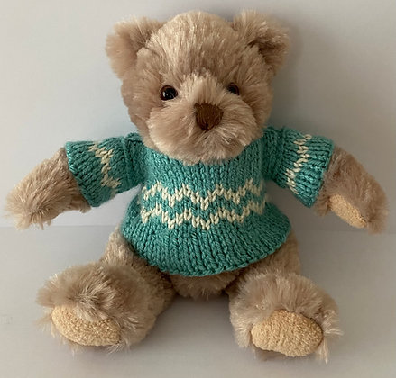 7.5 Inch Teddy Bear wearing Norwegian Jumper
