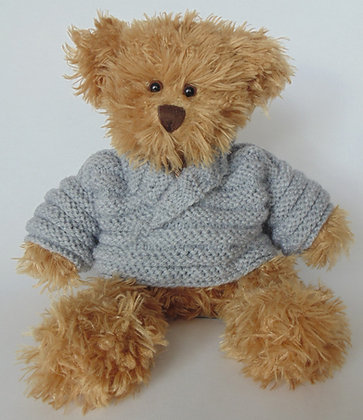 15 Inch Teddy Bear wearing Shawl Neck Jumper