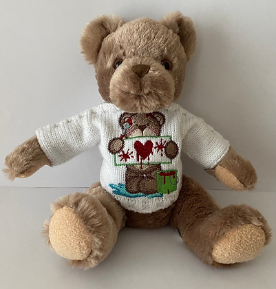 15 Inch Teddy Bear wearing Declaration of Love Embroidery Jumper