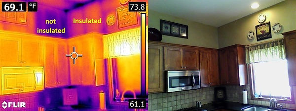 Infrared-insulated-vs-uninsulated-walls.