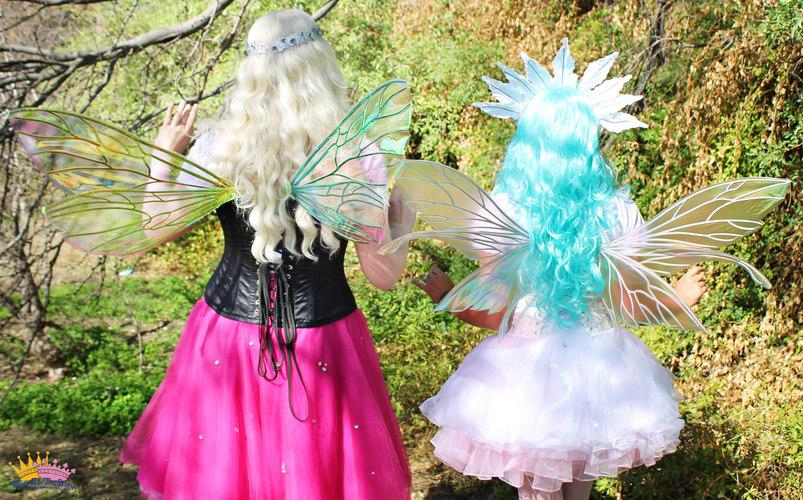 Fairy Caitlin (left) and The Tooth Fairy