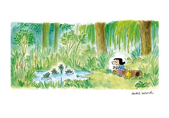 Print - Rita habla con las ranas
