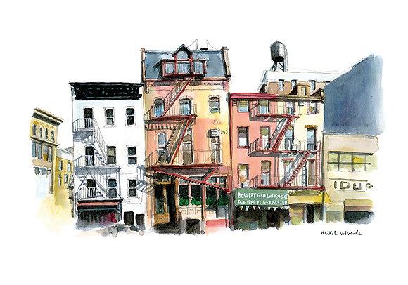 Print - New York, Bowery Street