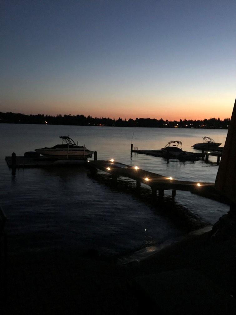 Lights down the dock