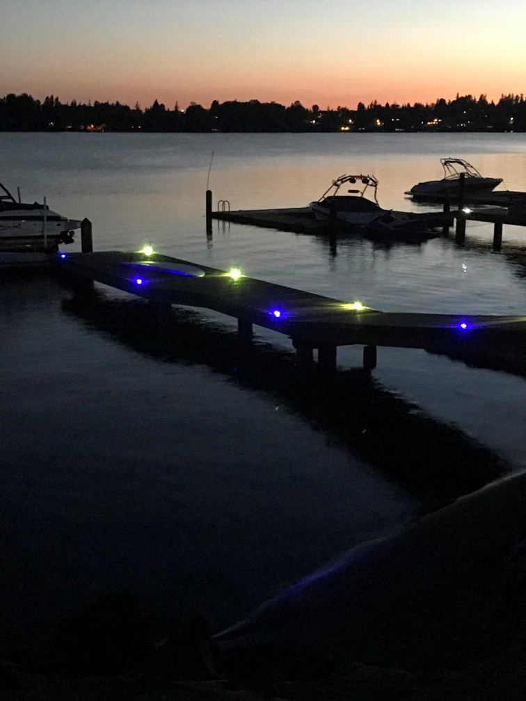 Lights down the dock