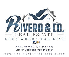 Rivero Logo with phone numbers and websi