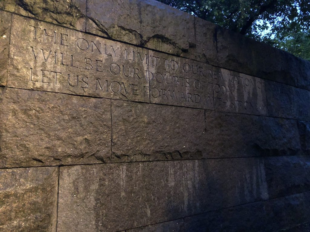 A photo from BA's visit to the FDR memorial in Washington DC.