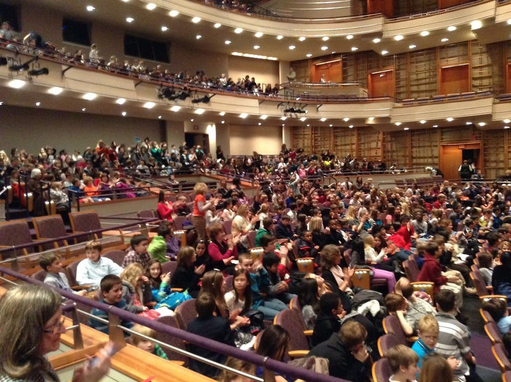 The Sandler Center House, packed with students for a matinee