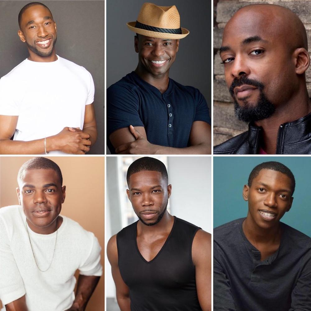 Headshots of the Black Broadway Men Founding Committee Anthony Wayne James T. Lane Terence Archie Ahmad Simmons Sir Brock Warren Isaiah Josiah
