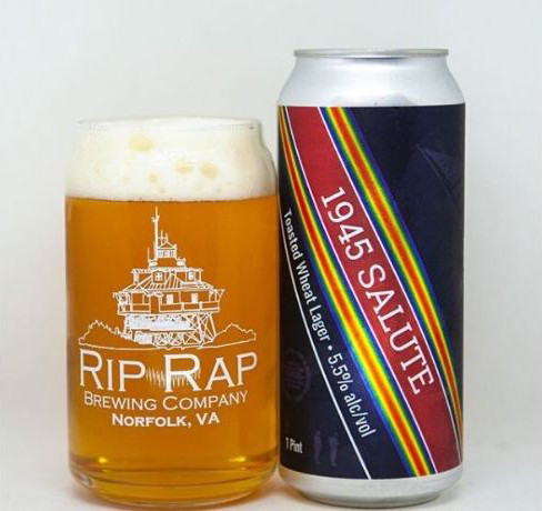 Rip Rap Brewing Company's 1945 Salute Beer.