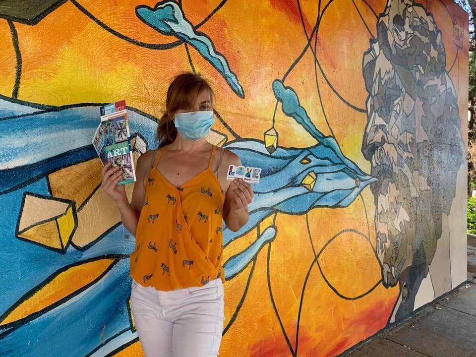 Photo from the public art scavenger hunt last weekend.