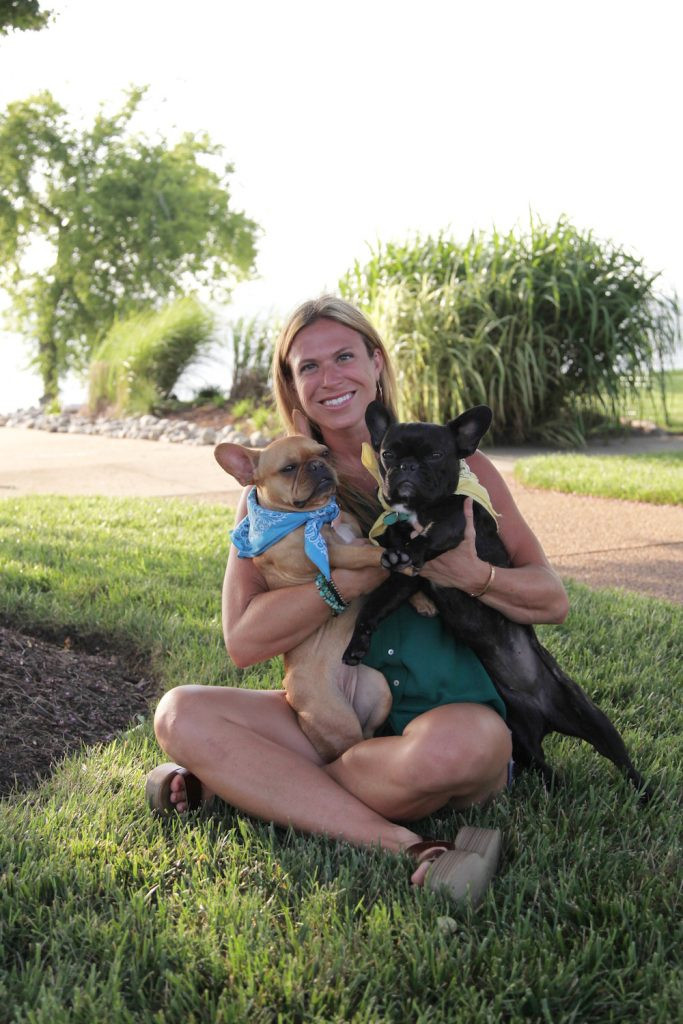 Haley Neef with her frenchie dogs!