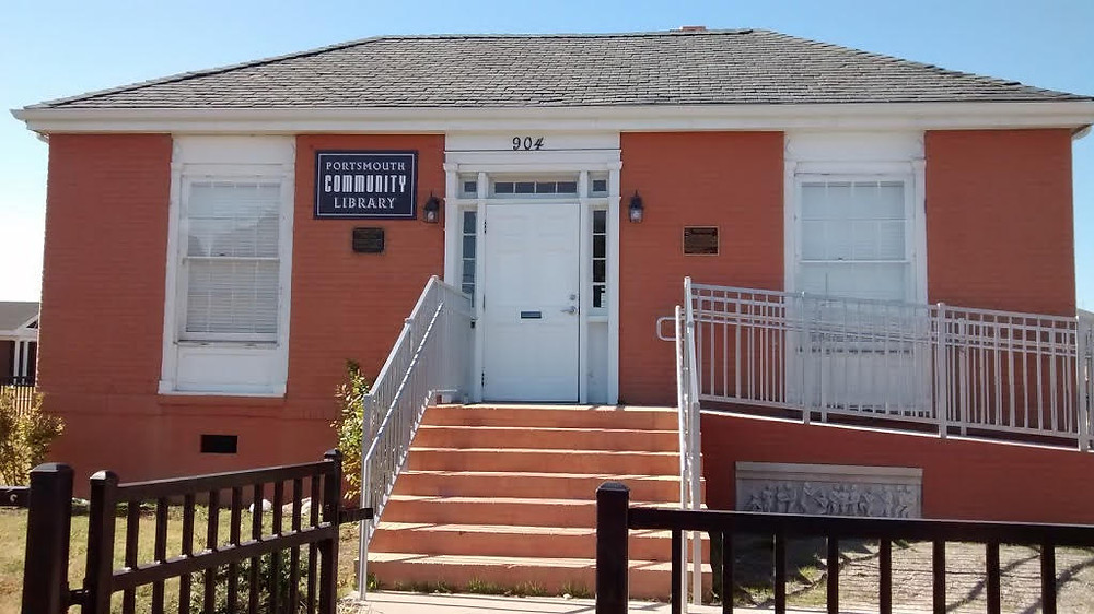The Portsmouth Colored Community Library Museum's front entrance.