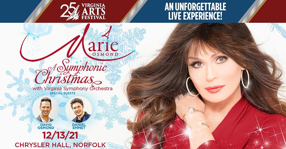 Virginia Arts Festival, Marie Osmond, Music