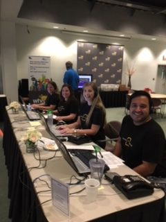 WHRO leaders board at the pledge drive answering phones