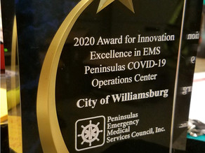 Peninsula COVID Operations Center Wins EMS Award