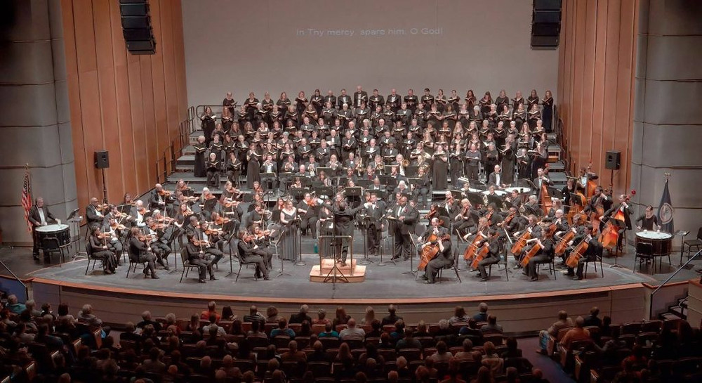 Symphonicity on stage at the Sandler Center