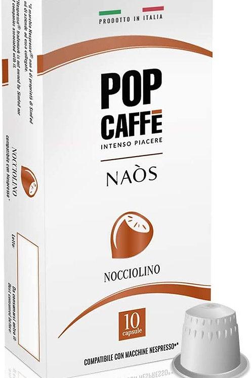 100 Capsule Pop Caffè NOCCIOLINO Compatibili Nespresso