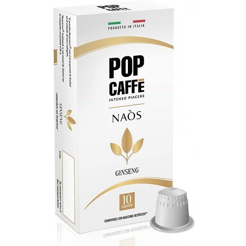 100 Capsule Pop Caffè GINSENG Compatibili Nespresso