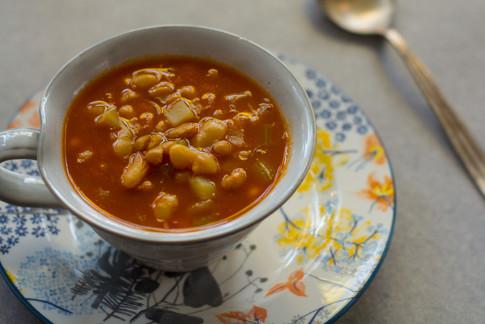 מרק שעועית, צילומי אוכל