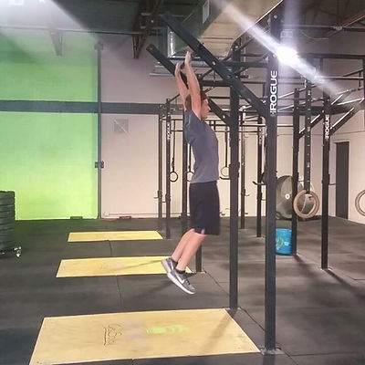Way to go Sam! He got bar muscle ups for