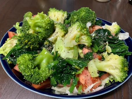 サラダ健康法?