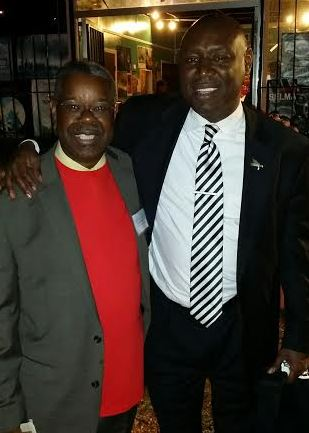 Ephraim Martin and NBA President Benjamin Crump