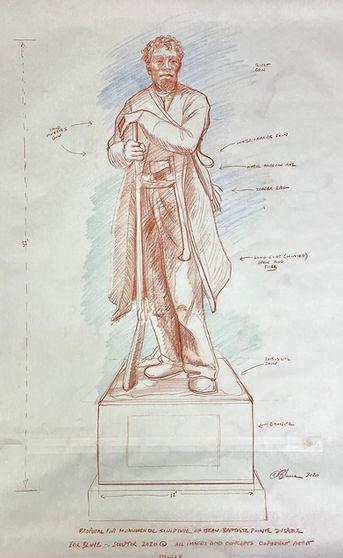 Erik Blome  DuSable monument -sketch for