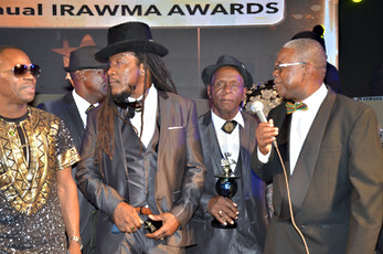 Heptones on the red carpet with Ephraim.