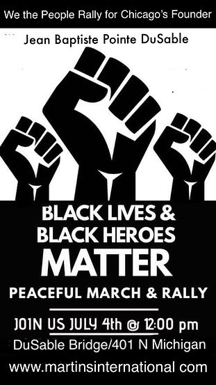Flyer for DuSable march- A. C. -6-25-202
