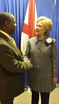 Ephraim Martin with Secretary of State