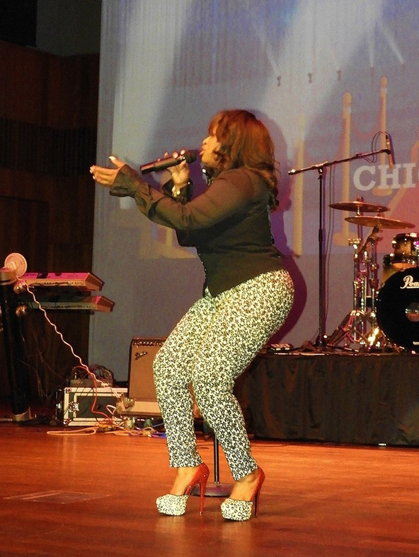 Terisa Griffin in action performing at 3