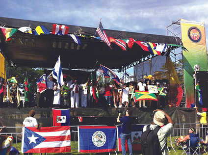 Carnival of Nations flags on display at