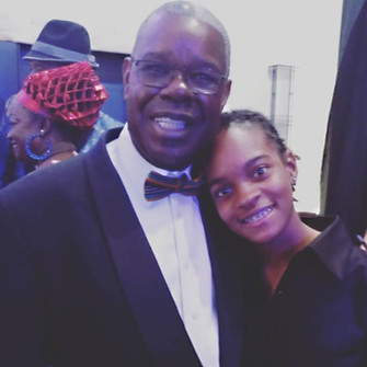Ephraim Martin with Koffee back stage 37